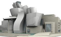 Guggenheim museum bilbao 8 Stock Illustration
