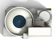 Guggenheim museum newyork 1 Stock Illustration