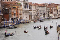 Italy, Venice, Canale Grande with gondola Stock Photos