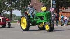 Old antique farm tractors rural parade HD 8535 Stock Footage