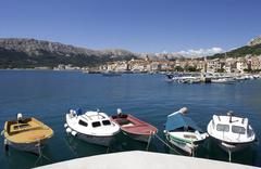 Stock Photo of Croatia, Krk Island, Baska, Boats anchoring