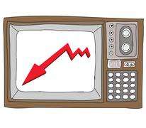 Drawing  television retro  and   graph Stock Illustration
