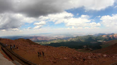 Time lapse from summit of Pikes Peak Stock Footage