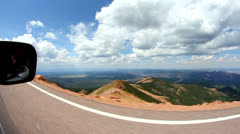 Driving up Pikes Peak Stock Footage
