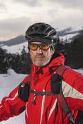 Austria, Tyrol, Mountainbiker, close-up - stock photo