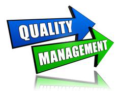 Quality management in arrows Stock Illustration