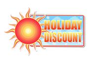 Stock Illustration of summer holiday discount in label with sun
