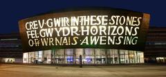 Wales Millennium Centre at night - stock photo