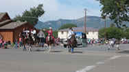 Stock Video Footage of Rodeo Queen Royalty rural town parade celebration HD 8531