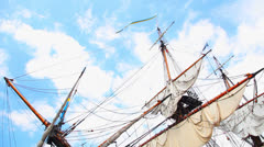 Old sailing ship Szczecin - stock footage