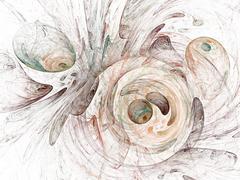 Stock Photo of digital fractal on white background