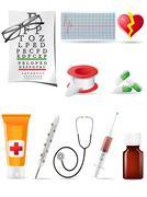 Icon medical set Stock Illustration