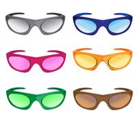 Stock Illustration of much colors sunglasses