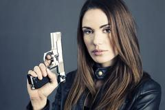 Stock Photo of dangerous woman