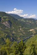 Stock Photo of Italy, South Tyrol, Bozen, Brenner motorway, elevated view