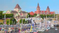 City Szczecin Poland Stock Footage