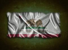 vintage california flag. - stock illustration