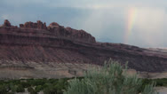 Stock Video Footage of San Rafael Swell high desert canyon rainbow HD 8548