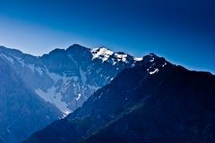 Mountains in kazakhstan as a background Stock Photos