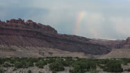 Stock Video Footage of San Rafael Swell Utah canyon desert rainbow HD 8546