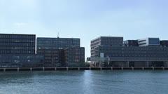 Pan Cruise ship moored at Passenger Terminal Amsterdam (PTA) Stock Footage