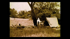 Preparing lunch, Tanzania 1937 Stock Footage