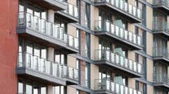Apartments with balconies Stock Footage