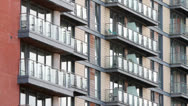 Stock Video Footage of apartments with balconies