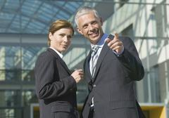 Germany, Munich, Business people looking away Stock Photos