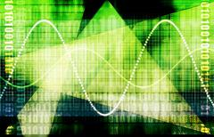 Telecommunications industry global network Stock Illustration
