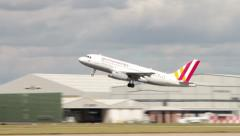 Plane takes off Stock Footage
