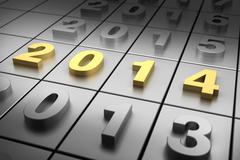 new year 2014 - stock illustration
