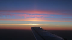 Sunrise above the clouds Stock Footage