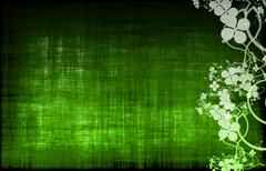 Green grunge floral decor Stock Illustration
