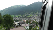 Stock Video Footage of European Alps Kitzbuhel Austria Aerial 55 cable car