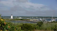 Edgartown Harbor Light Stock Footage