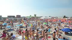 People Having Fun At The Beach Stock Footage
