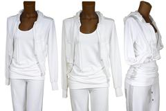 female white tracksuit - stock photo