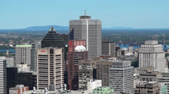 Montreal City Landscape Buildings Stock Footage