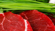 Stock Video Footage of fresh raw beef fillet