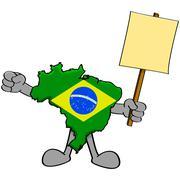 Brazil protest Stock Illustration