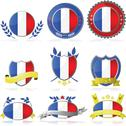 Stock Illustration of france badges