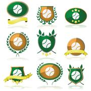 tennis badges - stock illustration