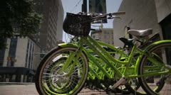 Memphis City Downtown - Bikes Stock Footage