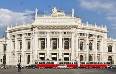 Austria, Vienna, View of burgtheater Stock Photos