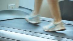 Walking on treadmill - stock footage