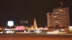 Timelapse Minerva Square Guadalajara Mexico Stock Footage