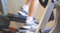 Fitness elliptical Stock Footage