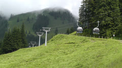 European Alps Kitzbuhel Austria Cable Car 1 Stock Footage
