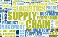 Stock Illustration of supply chain management